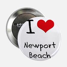"I Love NEWPORT BEACH 2.25"" Button"