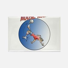 Moose Soccer Kick ! Rectangle Magnet