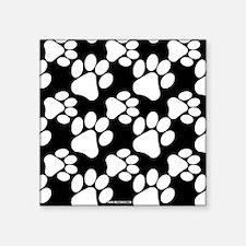 Dog Paws Black Sticker