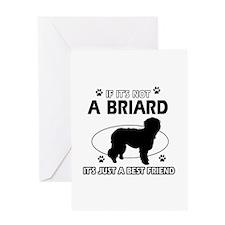 Briard merchandise Greeting Card