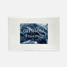 Offshore Fishing Tuna Logo Rectangle Magnet