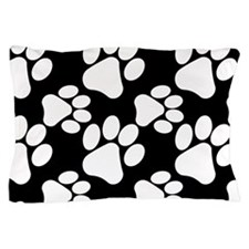 Dog Paws Black-Small Pillow Case