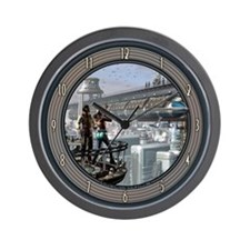 """""""Clouds Will Soon Roll By"""" Wall Clock"""