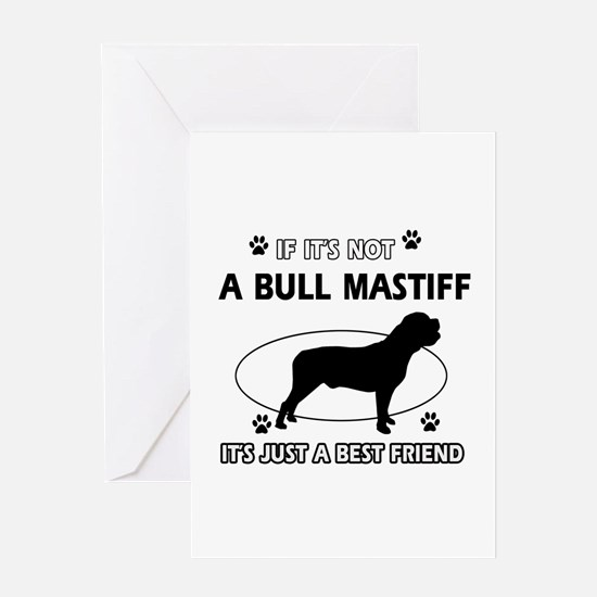 Bull Mastiff merchandise Greeting Card