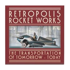 Retropolis Rocket Works Tile Coaster