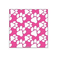 Dog Paws Bright Pink Sticker