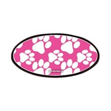 Dog Paws Bright Pink Patches
