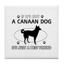 Canaan Dog merchandise Tile Coaster