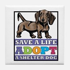 doxie rescue.png Tile Coaster