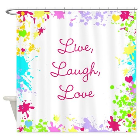 Arty Live Laugh Love Shower Curtain