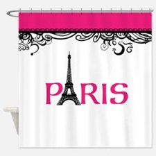 Pink Paris Shower Curtain