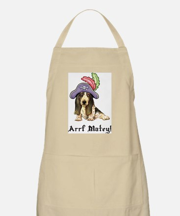 Basset Pirate BBQ Apron