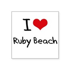 I Love RUBY BEACH Sticker