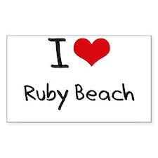 I Love RUBY BEACH Decal