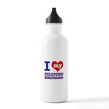 I love My Filipino Girlfriend Water Bottle