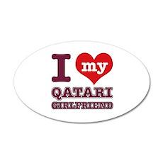 I love My Qatari Girlfriend 20x12 Oval Wall Decal