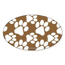 Dog Paws Brown Decal