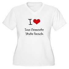 I Love SAN CLEMENTE STATE BEACH Plus Size T-Shirt
