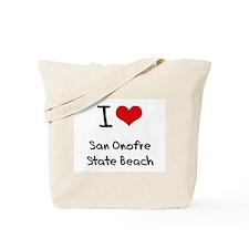 I Love SAN ONOFRE STATE BEACH Tote Bag