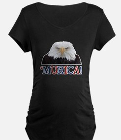 Murica! Bald Eagle Maternity T-Shirt