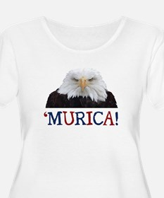 Murica! Bald Eagle Plus Size T-Shirt