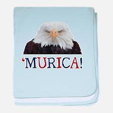 Murica! Bald Eagle baby blanket