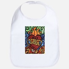 Blessed Flaming Heart Bib