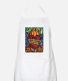 Blessed Flaming Heart Apron