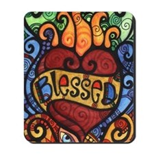 Blessed Flaming Heart Mousepad
