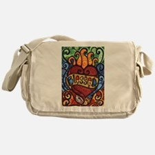 Blessed Flaming Heart Messenger Bag