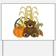 Autumn design with Pumkins and Teddy Bear Yard Sig