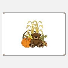 Autumn design with Pumkins and Teddy Bear Banner