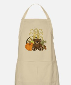 Autumn design with Pumkins and Teddy Bear Apron