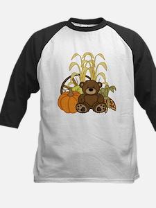 Autumn design with Pumkins and Teddy Bear Baseball