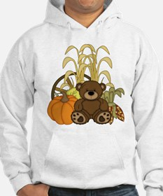Autumn design with Pumkins and Teddy Bear Hoodie