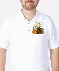 Autumn design with Pumkins and Teddy Bear T-Shirt