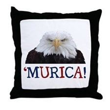 Murica! Bald Eagle Throw Pillow