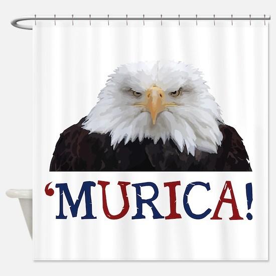 Murica! Bald Eagle Shower Curtain