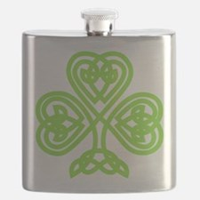 Cute Celtic clover Flask