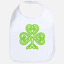 Cute Celtic clover Bib