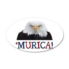 Murica! Bald Eagle Wall Decal