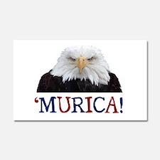 Murica! Bald Eagle Car Magnet 20 x 12