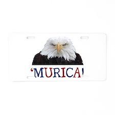 Murica! Bald Eagle Aluminum License Plate