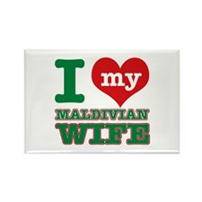 I love my Maldivian Wife Rectangle Magnet