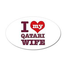 I love my Qatari Wife 20x12 Oval Wall Decal