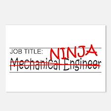 Job Ninja Mech Eng Postcards (Package of 8)