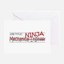 Job Ninja Mech Eng Greeting Card