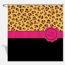 Personalized Cheetah Print Shower Curtain