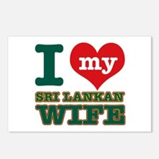 I love my Sri Lankan Wife Postcards (Package of 8)