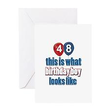 48 year old birthday boy Greeting Card